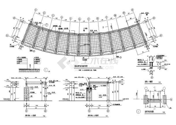 园林景观小品亭廊花架CAD设计施工图(共228张)-图1