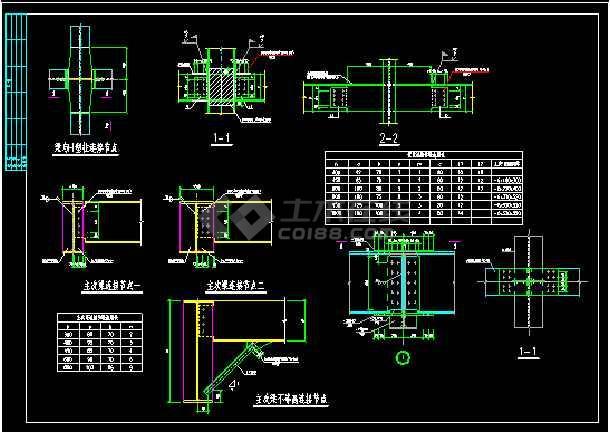 某小区独立变电站结构cad设计图-图一