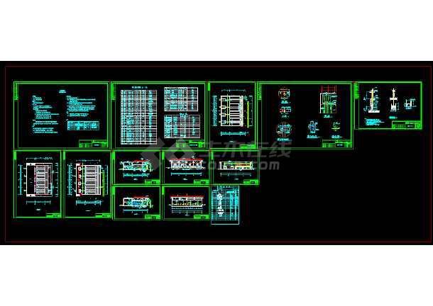 点击查看某四万吨污水厂中水回用工艺设计图纸第1张大图