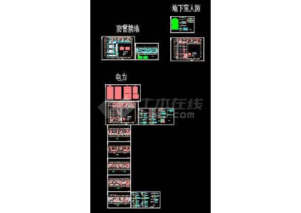 点击查看某综合楼电力电气设计cad平面施工图第1张大图