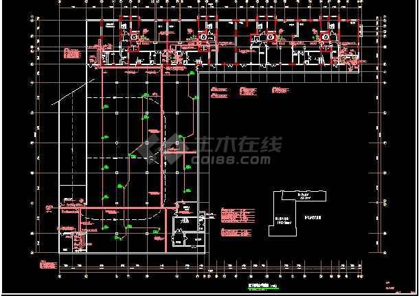 某综合楼电力电气设计cad平面施工图-图1