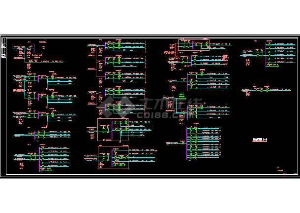 某综合楼电力电气设计cad平面施工图-图2