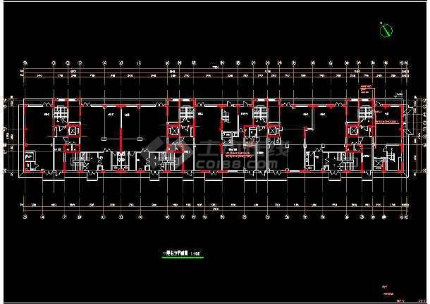 某综合楼电力电气设计cad平面施工图-图3