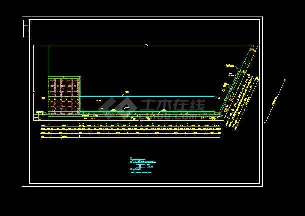 某货运码头结构cad施工设计图纸-图1