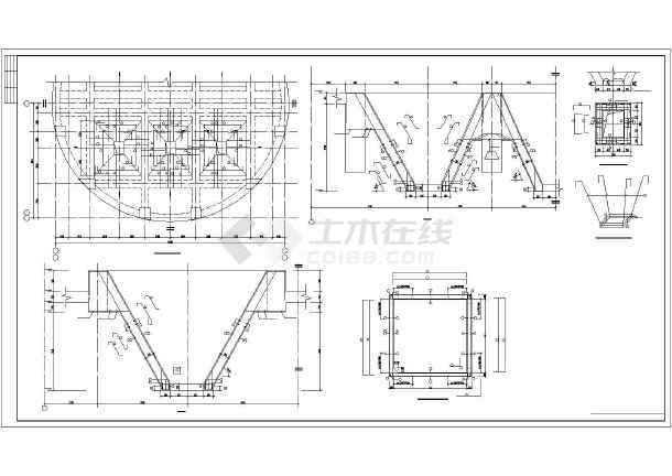 某钢筋混凝土筒仓结构设计图-图1