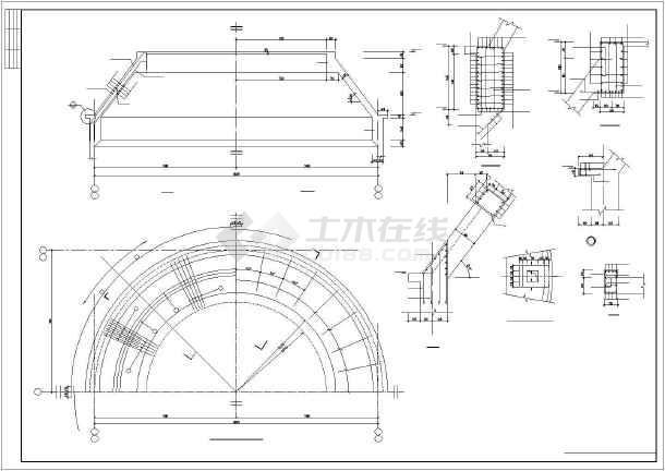 某钢筋混凝土筒仓结构设计图-图2