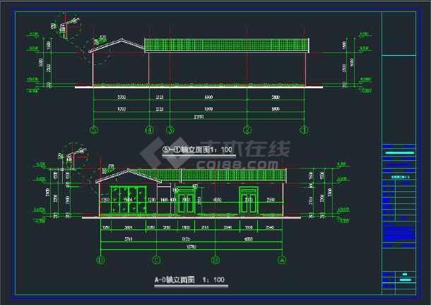 某砖混砌体结构古建筑风格自建房工程施工图(180平米左右)(含设计说明)-图1