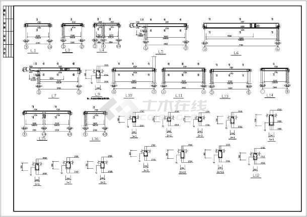 三层别墅建筑结构设计cad图纸(含模型)-图1
