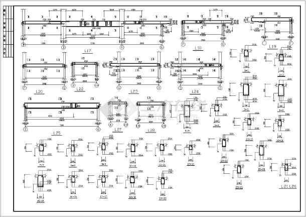 三层别墅建筑结构设计cad图纸(含模型)-图2