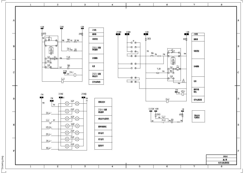 典型变电站电气设备控制保护图纸图片1