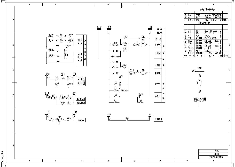 典型变电站电气设备控制保护图纸图片2