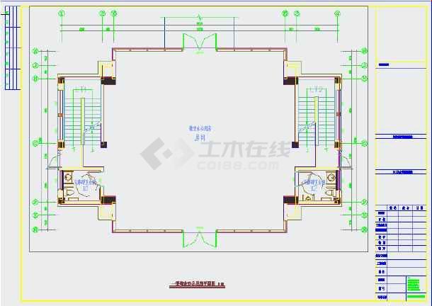 点击查看某小区物业用房装修施工图(含设计说明)第1张大图