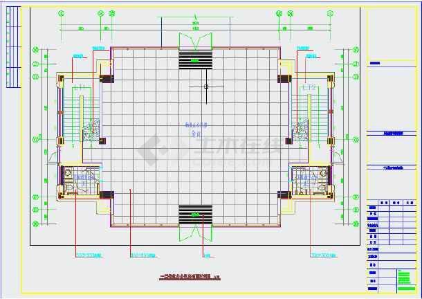 某小区物业用房装修施工图(含设计说明)-图2