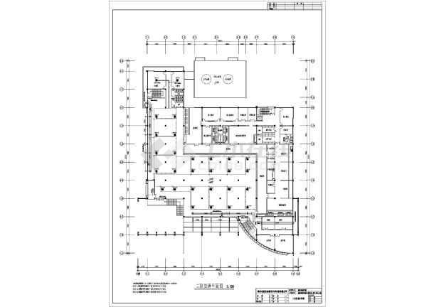 某大学学生第一食堂全套cad暖通设计施工图-图2