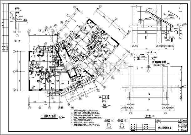 某小区框剪型小高层cad建筑工程施工设计图纸-图2