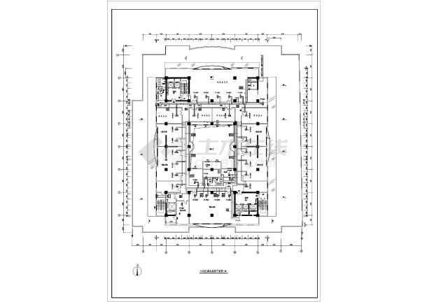 某机房系统全套平面cad暖通设计施工图-图1