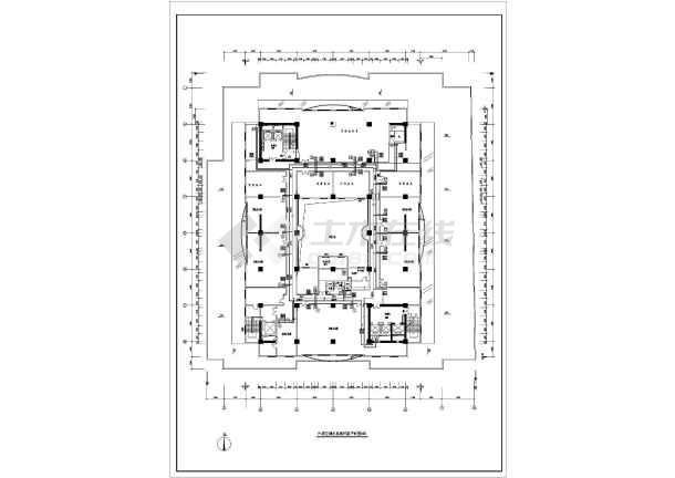 某机房系统全套平面cad暖通设计施工图-图2
