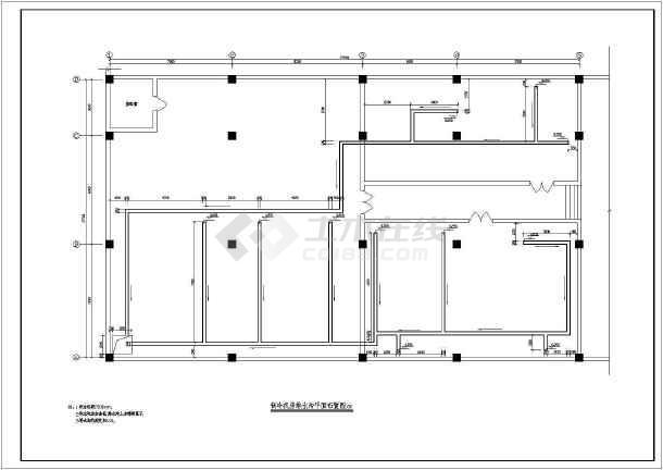某机房系统全套平面cad暖通设计施工图-图3