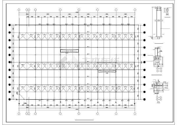 点击查看某带吊车带夹层钢结构厂房第1张大图