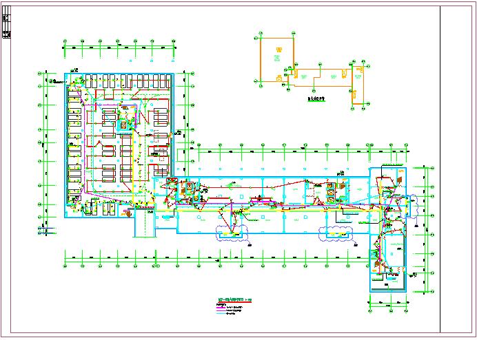 医院地下室消防电气平面图图片1