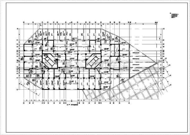 小高层住宅楼结构cad建筑工程施工图-图3