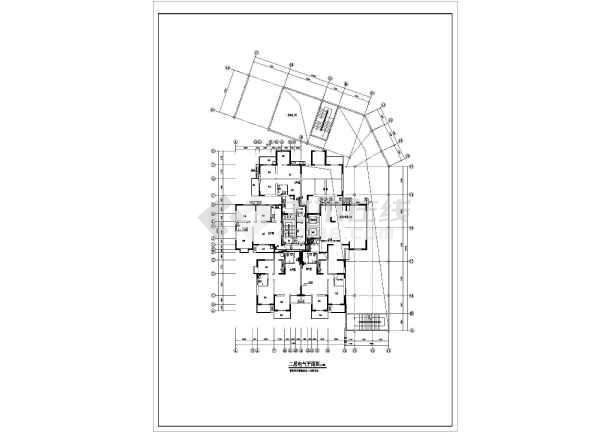 某18层综合办公楼电气cad施工设计图纸-图2
