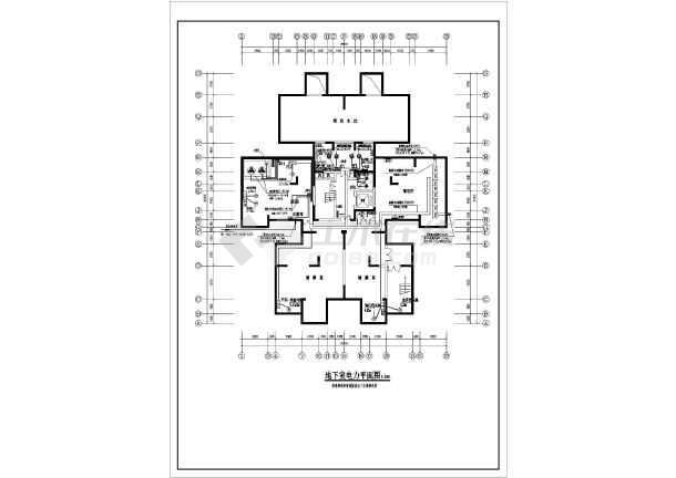 某18层综合办公楼电气cad施工设计图纸-图3