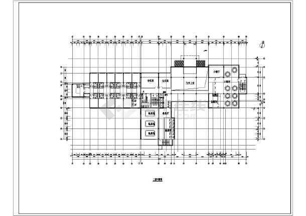 某地方温泉度假别墅施工图CAD图纸-图二