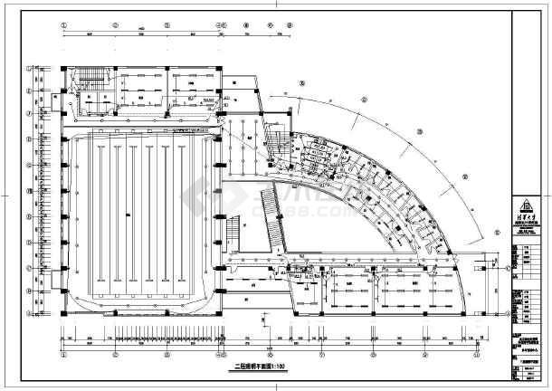 某大型体育馆全套电气cad施工设计图-图3