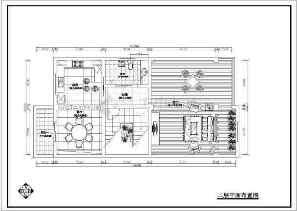 点击查看某住宅全套室内设计装修CAD施工图纸第2张大图