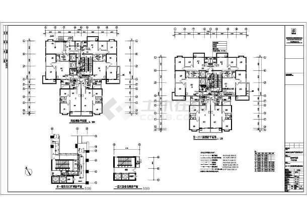 某高层住宅楼建筑全套电气cad施工设计图纸-图1