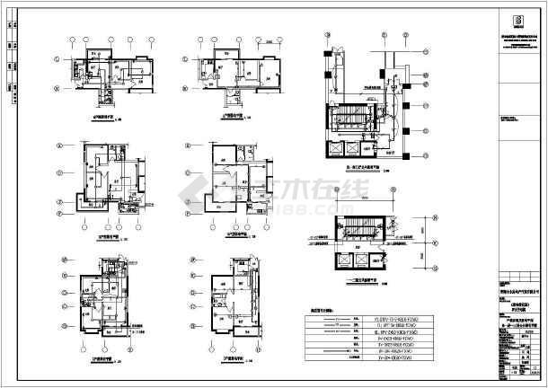 某高层住宅楼建筑全套电气cad施工设计图纸-图2