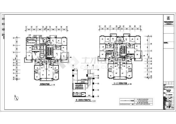 某高层住宅楼建筑全套电气cad施工设计图纸-图3