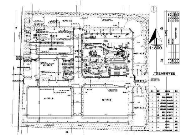 某工厂厂区路灯照明电气设计cad施工图-图1