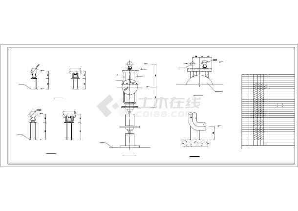 架空蒸汽管道给排水图纸-图1