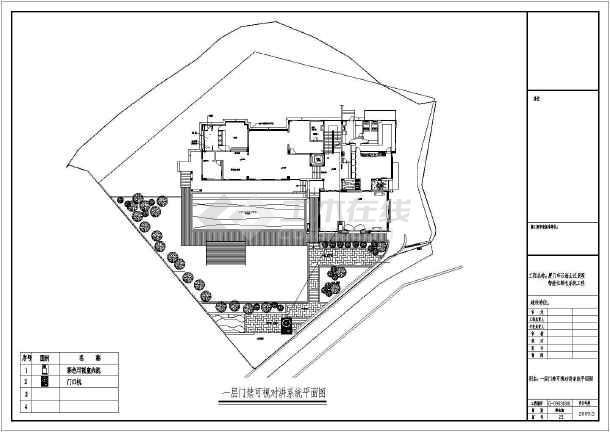 别墅装修智能家具电气弱电cad施工图纸-图1