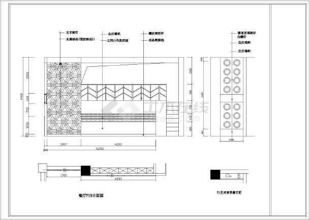 点击查看西式餐厅室内设计装修cad施工图第2张大图