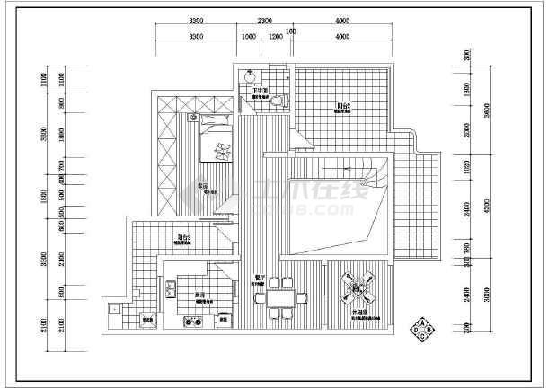 点击查看某小区别墅电气照明布线设计方案图第1张大图