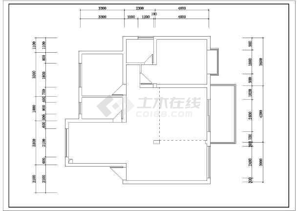 某小区别墅电气照明布线设计方案图-图1