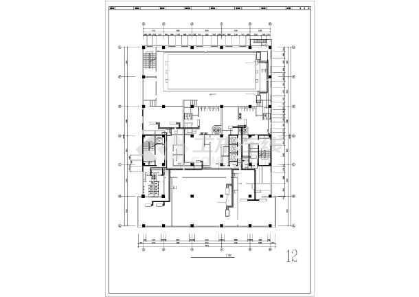 高层酒店给排水系统图纸-图3