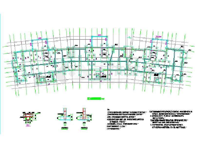 某高层剪力墙结构(含桩基)结构设计图-图1