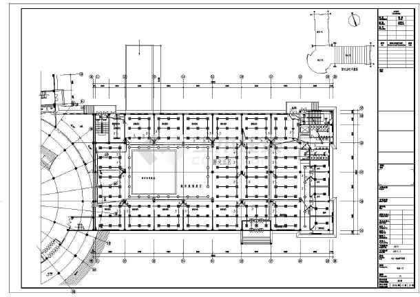 某科技馆电气cad施工设计图-图1
