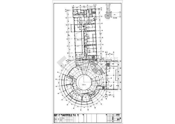 某科技馆电气cad施工设计图-图3