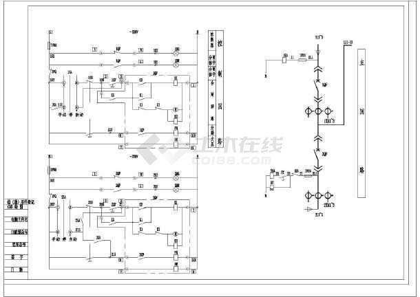 典型低压0.4KV空气断路器电气原理图-图1