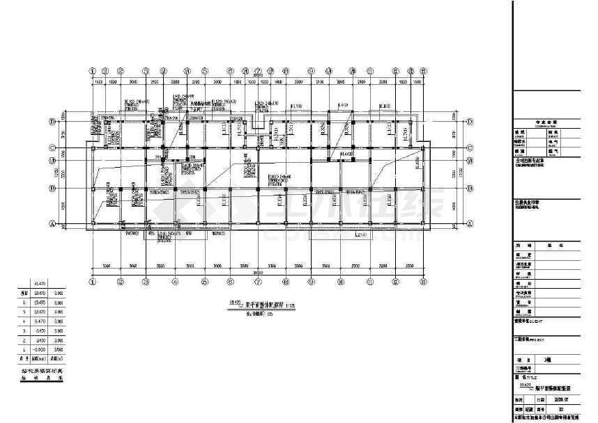 某地六层住宅框架结构设计图(含设计说明)-图3