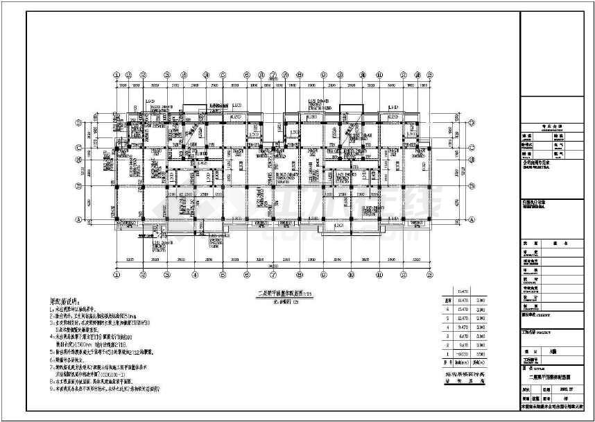某地六层框架结构住宅楼结构施工图(共18张)-图1