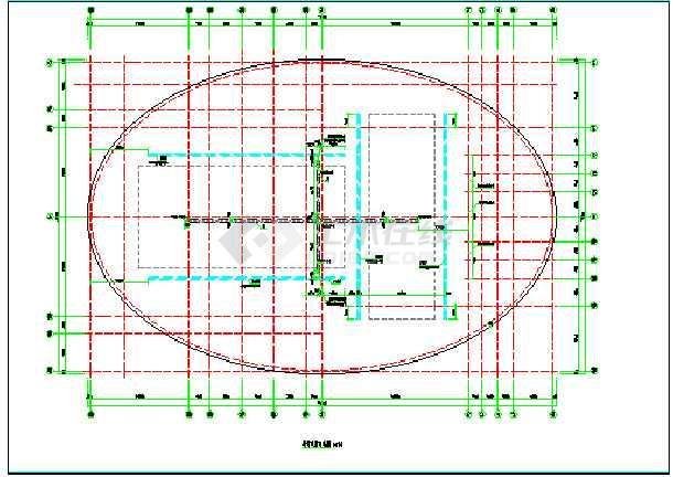 空间网壳体育场建筑设计图-图3