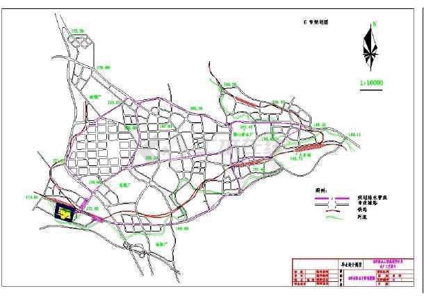给排水工程专业城市给排水毕业设计cad-图1