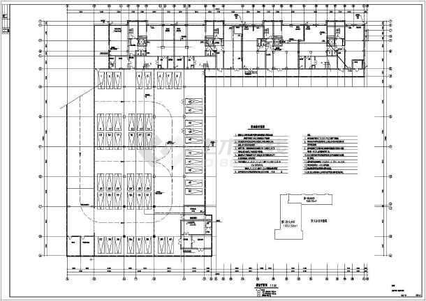 综合楼电力电气设计cad平立面施工图-图一