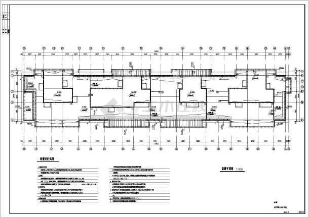 综合楼电力电气设计cad平立面施工图-图1